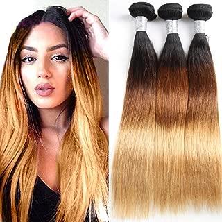 XYHair Factory Wholesale 8A Grade 100% Virgin Brazilian Ombre remy straight Hair 3 Bundles double weft Human Hair Extensions weave 1B/4/27 (161820)