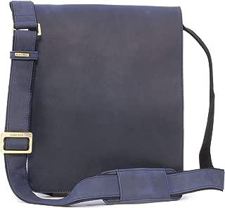 Visconti Big Organiser Messenger Bag - Genuine Leather - Hardwearing/Shoulder/Cross Body/Business/Office/Work Bag/Leisure - 18410 - Jasper - Oil Blue