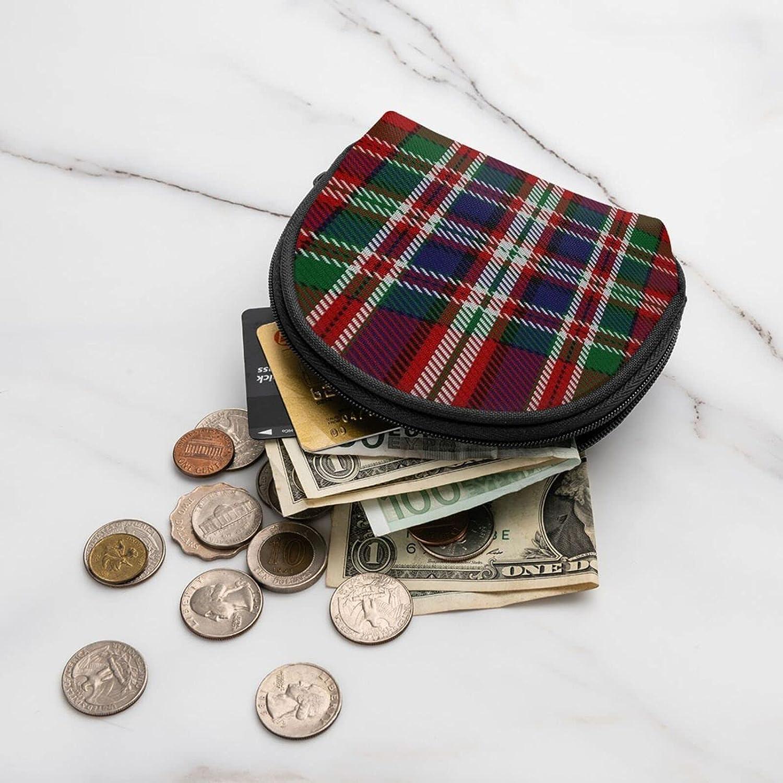 small zipper Coin Purses Vintage zipper Pouch Change Purse Wallets Classic Clan Macfarlane Tartan