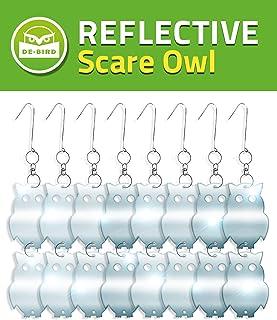 Set de 8 repelentes de Aves en Forma de búho - Decorativo y Ecológico - Brillante y Reflectante