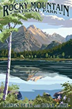 Rocky Mountain National Park, Colorado - Longs Peak and Bear Lake Summer (9x12 Art Print, Wall Decor Travel Poster)