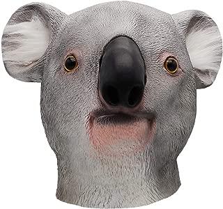 ifkoo Koala Mask Deluxe Novelty Halloween Costume Party Latex Animal Head Mask