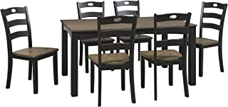 Signature Design By Ashley - Froshburg Dining Room Table Set of 7 - Casual Style - Grayish Brown/Black