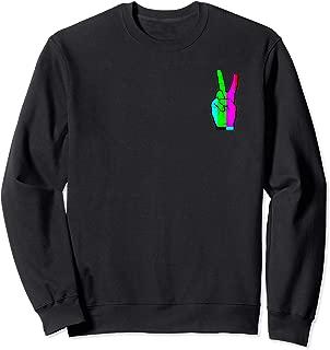 Rainbow TV Peace Sign Small Logo Sweatshirt