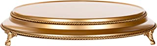 Amalfi Decor 16 Inch Cake Stand Plateau Riser, Large Dessert Cupcake Pastry Candy Display Plate for Wedding Event Birthday Party, Round Metal Pedestal Holder, Gold