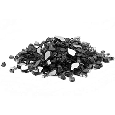 "Margo Garden Products 1/2"" 20lbs Dragon Glass, Black"