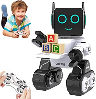 HBUDS Control Remoto RC Robot para Niños, Juguete de Robótica de Control de Sonido Táctil Recargable, Kit de Robot Educati...