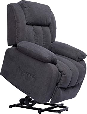 Polar Aurora Lift Massage Recliner Chair for Elderly Heated Fabric Rocker Recliner Ergonomic Lounge Vibratory Massage Functio
