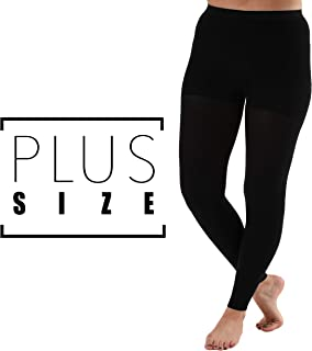 Opaque Graduated Compression Leggings Firm Support 20-30mmHg