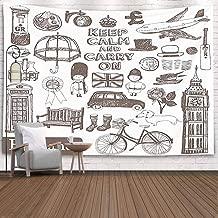 Fullentiart College Dorm Room Decor, Wall Art Living Room Bedroom Tapestry England Set Dinning Room Wall Decor Cool Dorm Room Decor 80X60 Inches