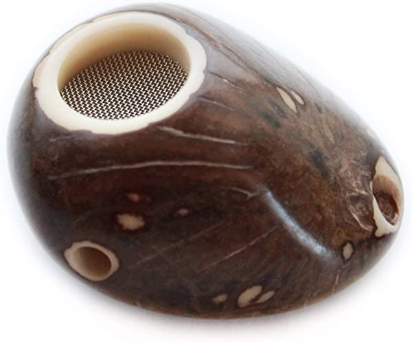 Tagua Nut Pipe Handmade Full Rind Finish All Natural Vegetable Ivory