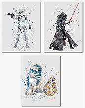Kylo Ren Stormtrooper BB-8 R2-D2 Wall Art Print 3 Pack