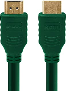 Cmple - HDMI Cable 3FT High Speed HDTV Ultra-HD (UHD) 3D, 4K @60Hz, 18Gbps 28AWG HDMI Cord Audio Return - 3 Feet Green