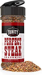 Trinity Provisions Perfect Steak Seasoning - Montreal Style Spice Rub for Ribeyes, Filets, Burgers, BBQ & all Meat!