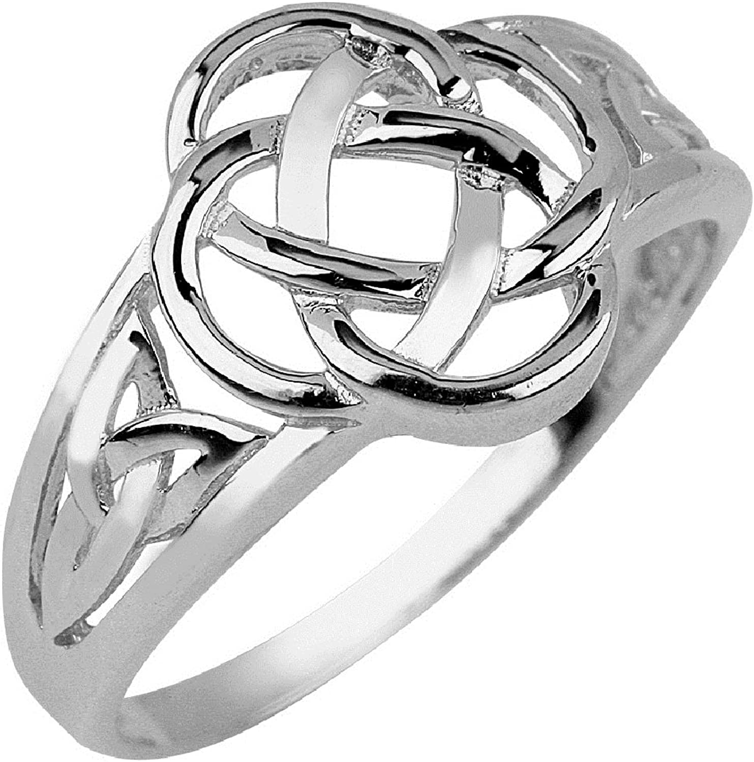 14k White gold Ladies Trinity Triquetra Ring