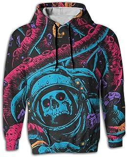 Virgo Octopus Halobios Novelty Black Hoodie Sweatshirt For Men Waterproof Hooded