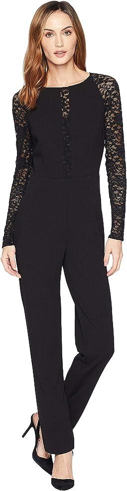 Luxe Tech Crepe Priscillia Jumpsuit
