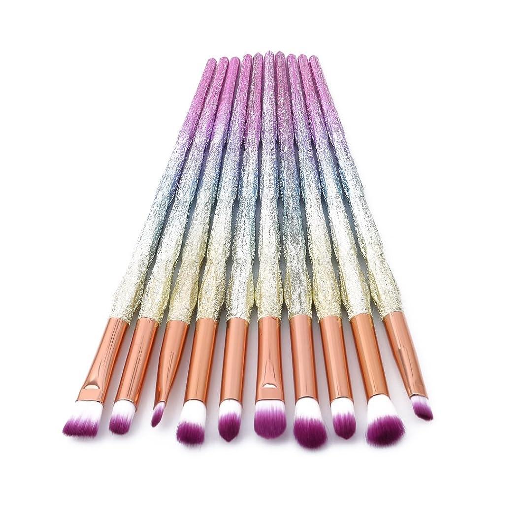 め言葉火インゲンHonel メイクブラシ 化粧筆 アイシャドウブラシ 10本セット