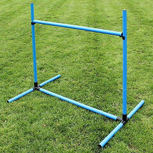 Superhund24 Sprunghürde aus Kunststoff (blau) für Obedience- und Agility-Training