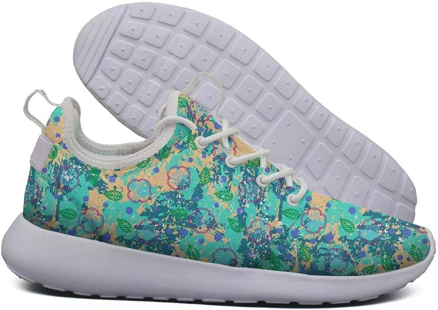 Opr7 Fusion Exotic Tropical Palm Lightweight Running shoes for Women Sneaker Sport Shock Absorbing