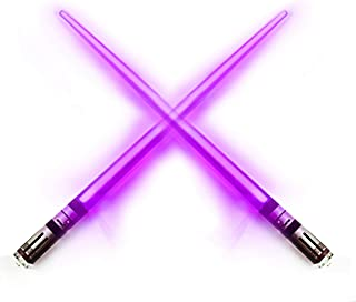 Chop Sabers Light Up Lightsaber Chopsticks, 1 Pair, Purple