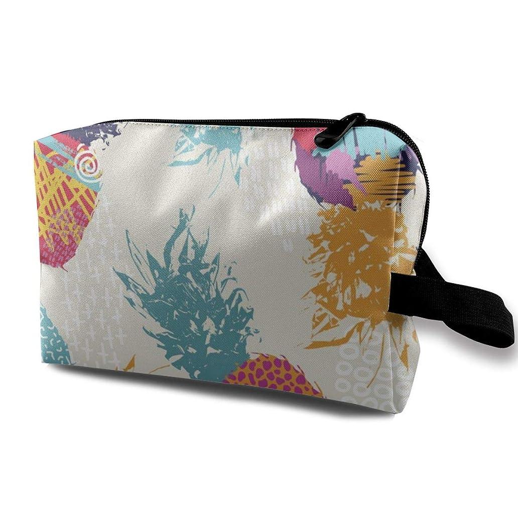 不公平徹底批判するトロピカルフルーツの水彩画 化粧バッグ 収納袋 女大容量 化粧品クラッチバッグ 収納 軽量 ウィンドジップ