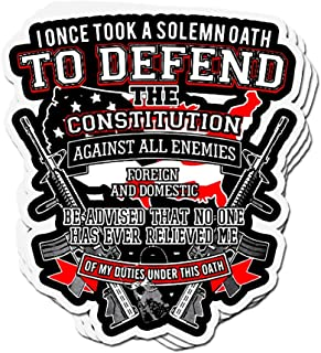 shopdoz 3 PCs Stickers I Once Took A Solemn Oath to Defend 4 × 3 Inch Die-Cut Wall Decals for Laptop Window