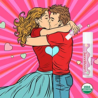 TREAT Jumbo Lip Balm, Organic & Cruelty Free (.50 OZ) (Sweetheart Lip Balm)