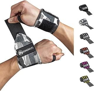 Kegiit 1 Paar Handgelenkbandage PU-Leder Rose Wickelbandage Gewichthebern