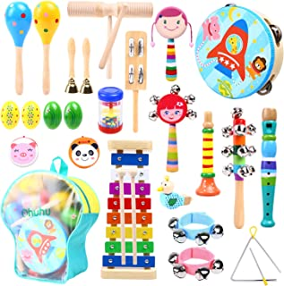 Music Instruments for Kids, Ohuhu Music Toys Kid Musical Instrument Set for Child with Tuned Xylophone, Storage Backpack Included, Birthday Gift Presents Set for Kids