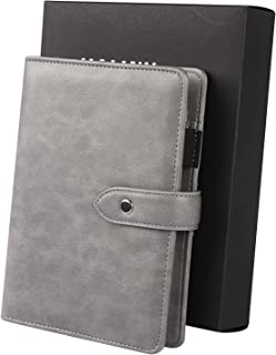 $22 » JIALINY a6 Leather Ring Binder Weekly Planner,Finances Organizer Calendar Budget Planner Journal with to do List & Planner...