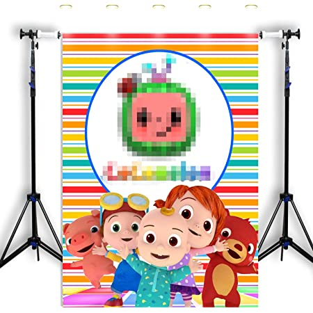 Cocomelon Family theme Photo Backdrops Children Birthday party Photography Background for Photo Studio Banner kids balloons Family Customize Cartoon Child Birthday Party Photographic Photo Studio