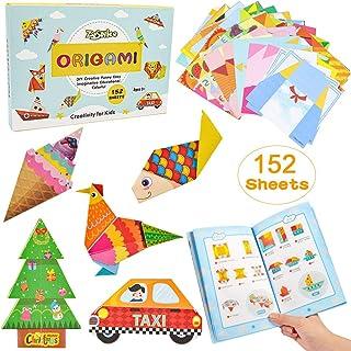 ZesNice Color Kit De Origami 152 Archivo De Origami Vívido De Doble Cara 72 Páginas Que Enseña Libro De Origami, Adecuado ...