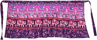 Women's Cotton Printed Knee Length Regular Wrap Around Skirt (W24NT_0001)