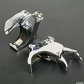 49mm Detachable Windshield Clamps For Harley Dyna Street Bob Wide Glide 06-16