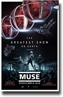 Muse Poster Concert Promo 11 x 17 inches Band Drones World Tour The Greatest Show On Earth