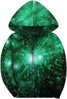 SAYM Big Boys' Youth Galaxy Teen Jackets Fleece Full Zip Hooded Hoodie 6-15Y