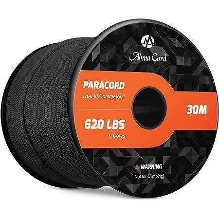 Seil f/ür Kreativit/ät EDCX Nylon Paracord 550 /Überleben und Handarbeit rei/ßfeste Fallschirmschnur zum /Überleben aus 100/% Nylon 4mm Typ III mit 7 Dr/ähten in vielen Farben