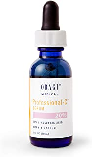 Obagi Professional C Serum 20%, Vitamin C Facial Serum with Concentrated 20% L Ascorbic Acid for Normal to Oily Skin, 1.0 ...