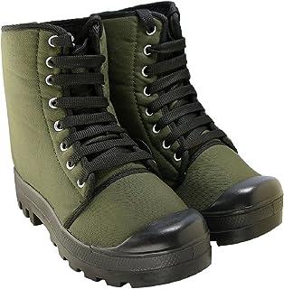 Blinder Green PU Long Boots for Men