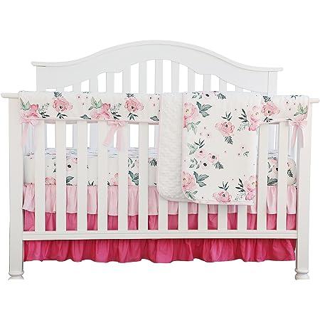 Girls Crib Bedding Crosshatch Blush Boho Changing Pad Covers  Bohemian Nursery Baby Bedding Mini Crib Sheets Pink  Girls Cot Sheets