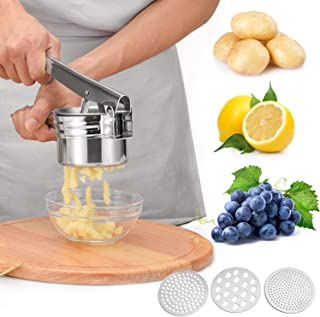 Large 15oz Potato Ricer,Potato Ricer Stainless Steel With 3 Interchangeable Discs, Manual Masher Ricer For Mashed Potatoes...