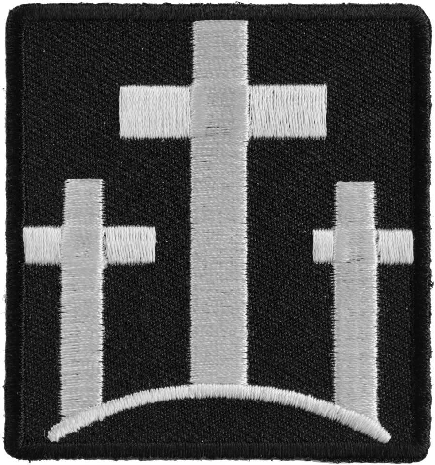 Three Crosses Patch - 2.25x2.5 Embroidered inch. Max 65% OFF on Iron overseas