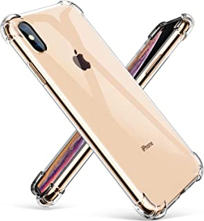 GVIEWIN Crystal Clear iPhone Xs Max Case, Soft TPU Cover with Shock Absorption Bumper Corners and Transparent Back Slim & Protective Cases for iPhone Xs Max 6.5