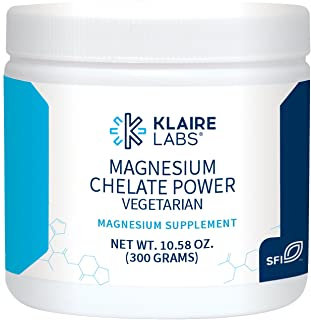 Klaire Labs Magnesium Chelate Powder - Fast-Dissolving 200 Milligrams High Absorption TRAACS Bisglycinate, Vegetarian & Hy...