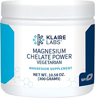 Klaire Labs Magnesium Chelate Powder - Fast-Dissolving 200 Milligrams High Absorption TRAACS Bisglycinate, Vegetarian & Hypoallergenic (120 Servings, 300 Grams)