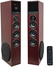 Rockville TM150C Cherry Powered Home Theater Tower Speakers 10