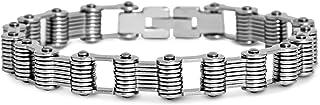 Steve Madden Stainless Steel Riveted Link Bracelet for Men