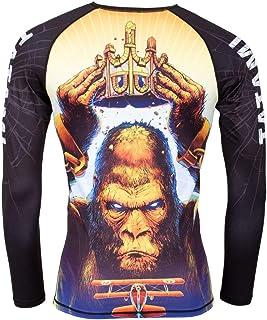 Tatami King Kong Rash Guard Long Sleeve No-Gi Jiu Jitsu Compression BJJ MMA