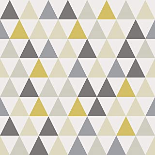 AMAZING WALL Yellow Triangle Peel and Stick Self Adhesive Wallpaper,15.7x198inch